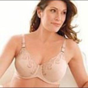 Lilyette minimized bra embroidered style 417 42C
